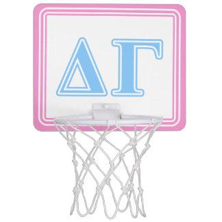 Delta Gamma Blue Letters Mini Basketball Hoop