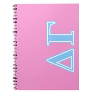 Delta Gamma Blue Letters Notebooks