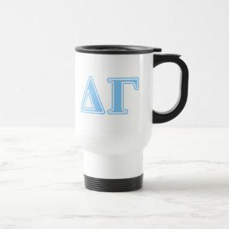 Delta Gamma Blue Letters Travel Mug
