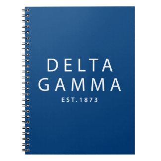 Delta Gamma | Est. 1873 Spiral Notebook
