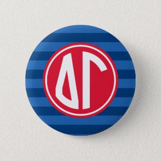 Delta Gamma | Monogram Stripe Pattern 6 Cm Round Badge
