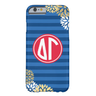 Delta Gamma | Monogram Stripe Pattern Barely There iPhone 6 Case