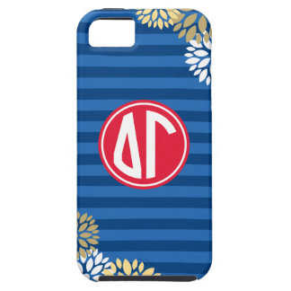 Delta Gamma | Monogram Stripe Pattern iPhone 5 Cover