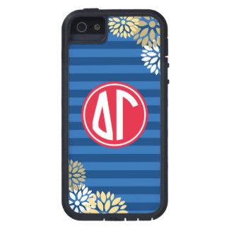 Delta Gamma | Monogram Stripe Pattern iPhone 5 Cover