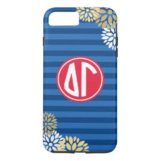 Delta Gamma | Monogram Stripe Pattern iPhone 7 Plus Case