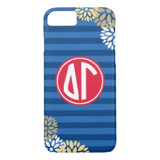 Delta Gamma | Monogram Stripe Pattern iPhone 8/7 Case