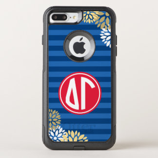 Delta Gamma | Monogram Stripe Pattern OtterBox Commuter iPhone 7 Plus Case