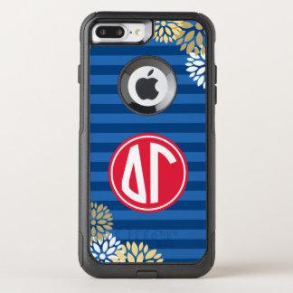 Delta Gamma | Monogram Stripe Pattern OtterBox Commuter iPhone 8 Plus/7 Plus Case