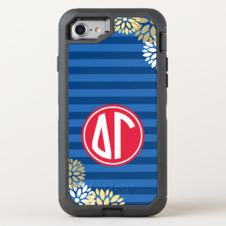 Delta Gamma | Monogram Stripe Pattern OtterBox Defender iPhone 7 Case