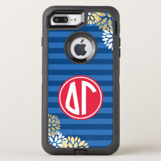 Delta Gamma | Monogram Stripe Pattern OtterBox Defender iPhone 7 Plus Case