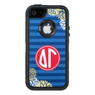 Delta Gamma | Monogram Stripe Pattern OtterBox iPhone 5/5s/SE Case