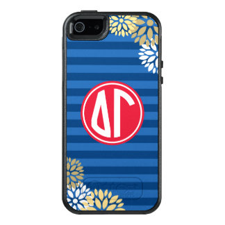 Delta Gamma | Monogram Stripe Pattern OtterBox iPhone 5/5s/SE Case
