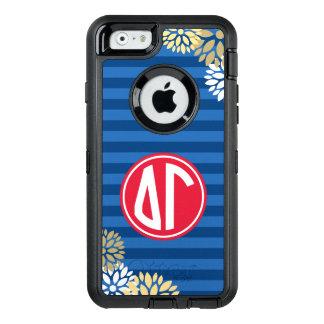 Delta Gamma | Monogram Stripe Pattern OtterBox iPhone 6/6s Case