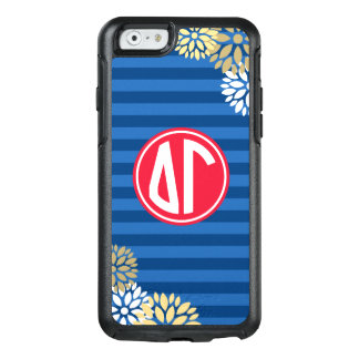 Delta Gamma | Monogram Stripe Pattern OtterBox iPhone 6/6s Case