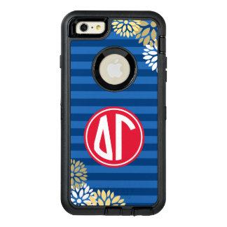 Delta Gamma | Monogram Stripe Pattern OtterBox iPhone 6/6s Plus Case
