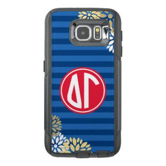 Delta Gamma | Monogram Stripe Pattern OtterBox Samsung Galaxy S6 Case