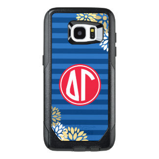 Delta Gamma | Monogram Stripe Pattern OtterBox Samsung Galaxy S7 Edge Case
