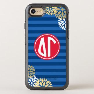 Delta Gamma | Monogram Stripe Pattern OtterBox Symmetry iPhone 7 Case