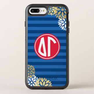 Delta Gamma | Monogram Stripe Pattern OtterBox Symmetry iPhone 7 Plus Case