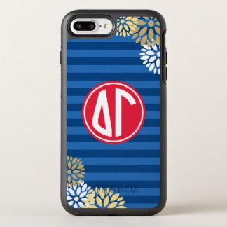 Delta Gamma | Monogram Stripe Pattern OtterBox Symmetry iPhone 8 Plus/7 Plus Case