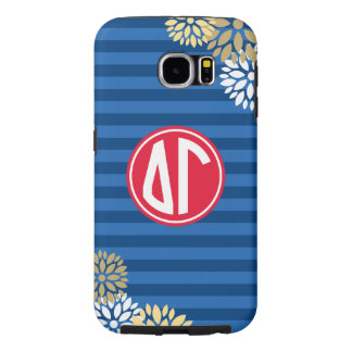 Delta Gamma | Monogram Stripe Pattern Samsung Galaxy S6 Cases
