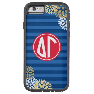 Delta Gamma | Monogram Stripe Pattern Tough Xtreme iPhone 6 Case