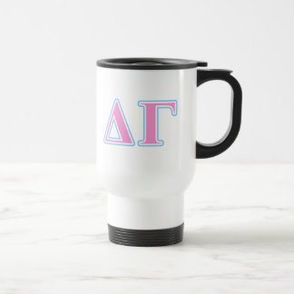 Delta Gamma Pink and Blue Letters Travel Mug