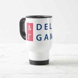 Delta Gamma | Stacked Logo Travel Mug