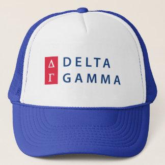 Delta Gamma   Stacked Logo Trucker Hat