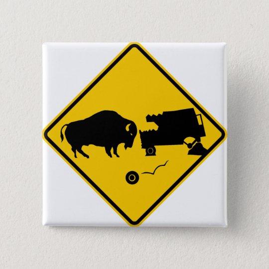 Delta Junction, Alaska, Bison Warning Sign 15 Cm