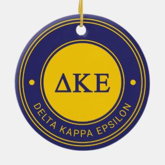 Delta Kappa Epsilon   Badge Christmas Ornament