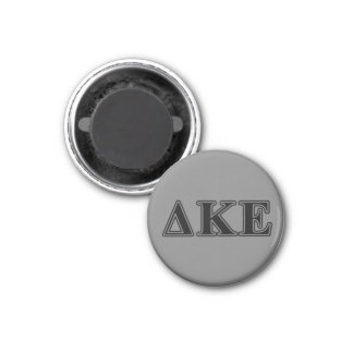 Delta Kappa Epsilon Black Letters 3 Cm Round Magnet