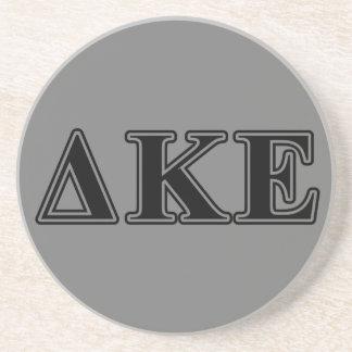 Delta Kappa Epsilon Black Letters Coaster
