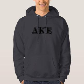 Delta Kappa Epsilon Black Letters Hoodie