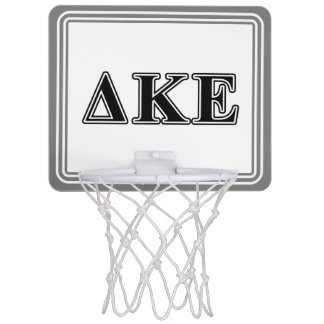 Delta Kappa Epsilon Black Letters Mini Basketball Hoop