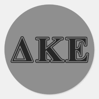 Delta Kappa Epsilon Black Letters Round Sticker