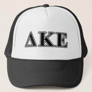 Delta Kappa Epsilon Black Letters Trucker Hat