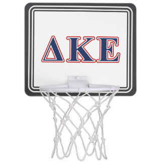 Delta Kappa Epsilon Blue and Red Letters Mini Basketball Hoop