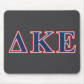 Delta Kappa Epsilon Blue and Red Letters Mouse Mat