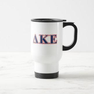 Delta Kappa Epsilon Blue and Red Letters Travel Mug