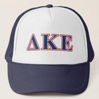 Delta Kappa Epsilon Blue and Red Letters Trucker Hat