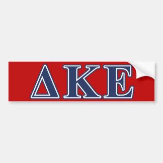 Delta Kappa Epsilon Blue Letters Bumper Sticker