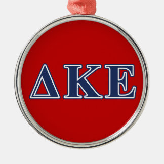 Delta Kappa Epsilon Blue Letters Christmas Ornament