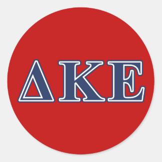 Delta Kappa Epsilon Blue Letters Classic Round Sticker