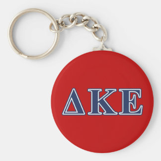 Delta Kappa Epsilon Blue Letters Key Ring