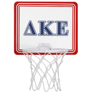 Delta Kappa Epsilon Blue Letters Mini Basketball Hoop