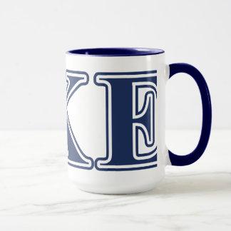 Delta Kappa Epsilon Blue Letters Mug