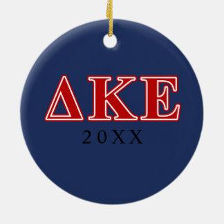 Delta Kappa Epsilon Red Letters Christmas Ornament