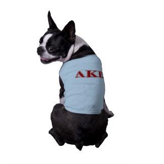 Delta Kappa Epsilon Red Letters Sleeveless Dog Shirt