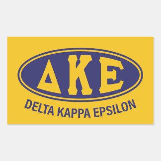 Delta Kappa Epsilon | Vintage Rectangular Sticker